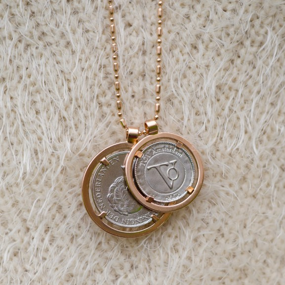 Tov ketting bi color rose munten rijksdaalder
