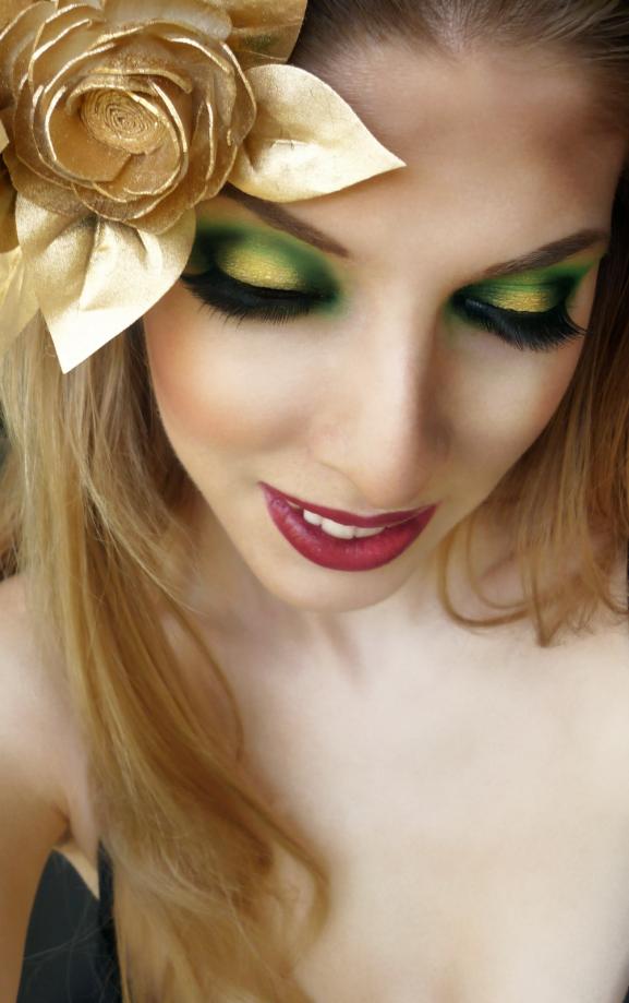 groene kerst make up loo