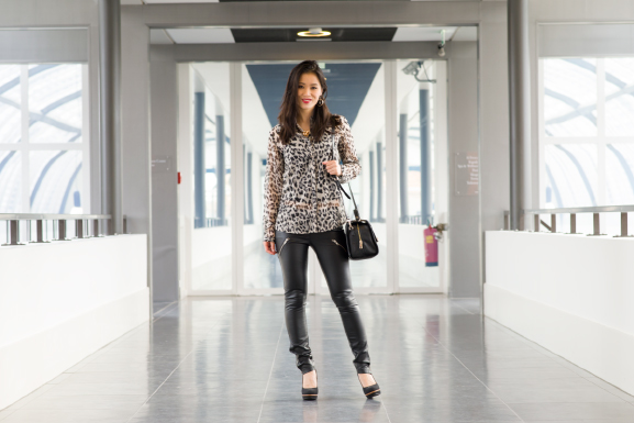 outfit Outfit: Leather pants vs. Animal print top