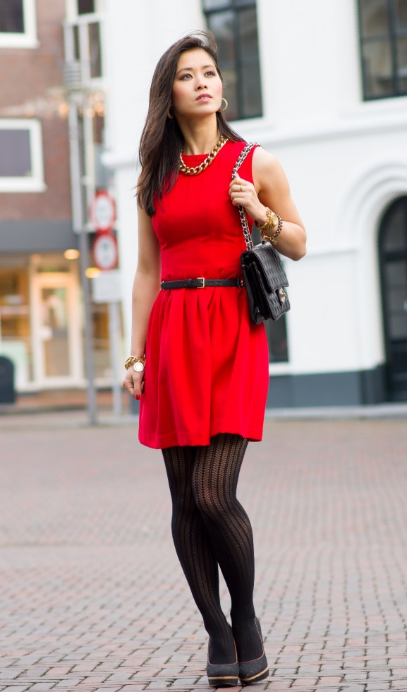 red christmass dress