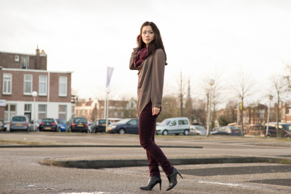 DSC9098 Outfit: Burgundy vs. Taupe