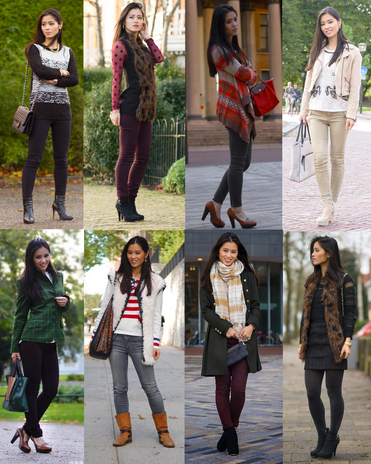 Outfits-fotos-blazers-autumn-wintercoat-furry-faux-burgundy-2013-My-Huong Outfits van 2013