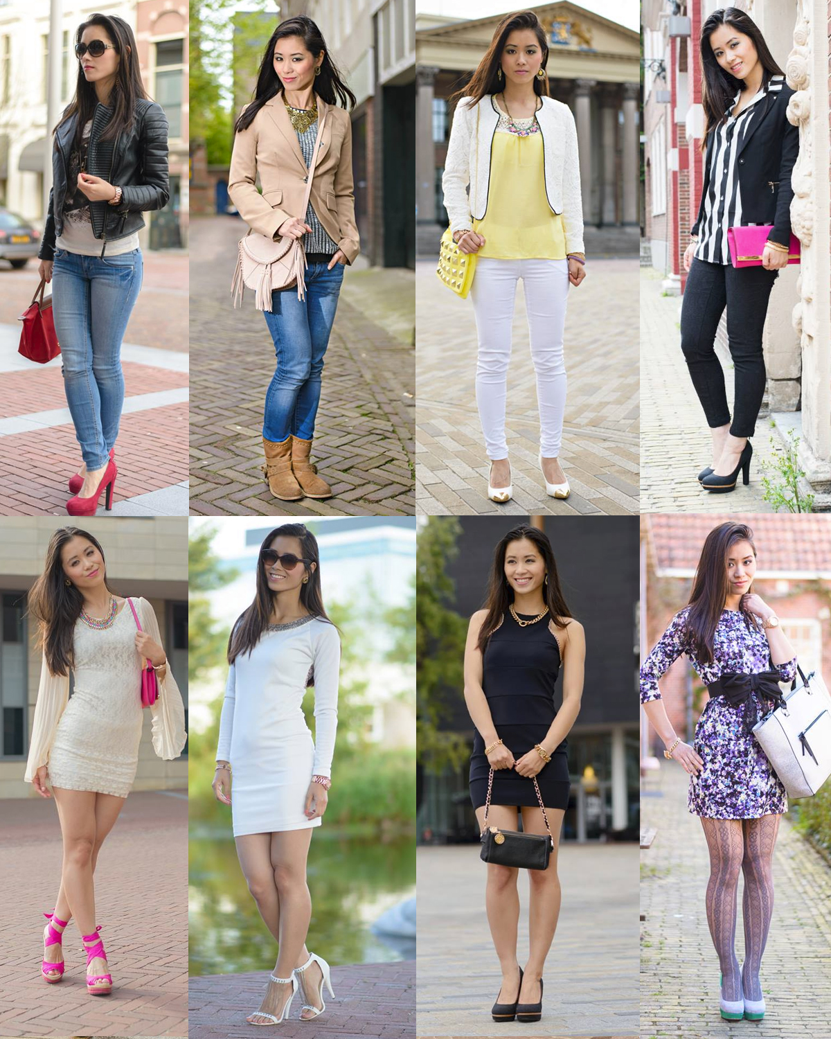 Outfits-fotos-blazers-summer-dress-2013-My-Huong Outfits van 2013