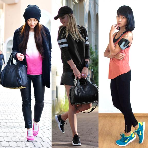 roze schoenen combineren