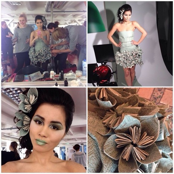 fotoshoot people in paper