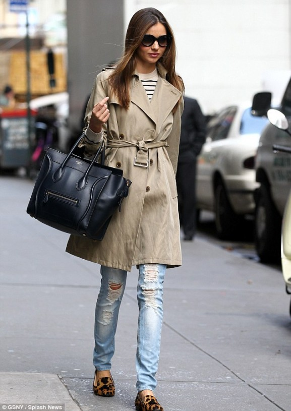 miranda kerr in trenchcoat