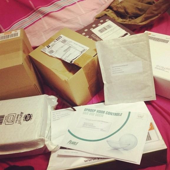pakketjes binnen