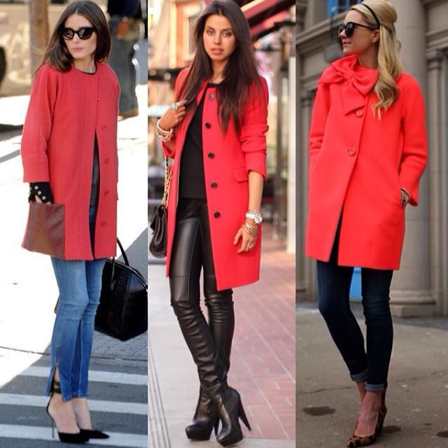 Rode jas combineren