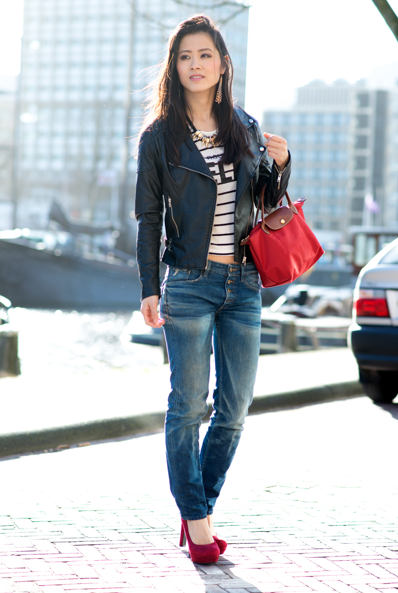 Outfit: Amy & Ivy Biker Jacket | The Beauty Musthaves