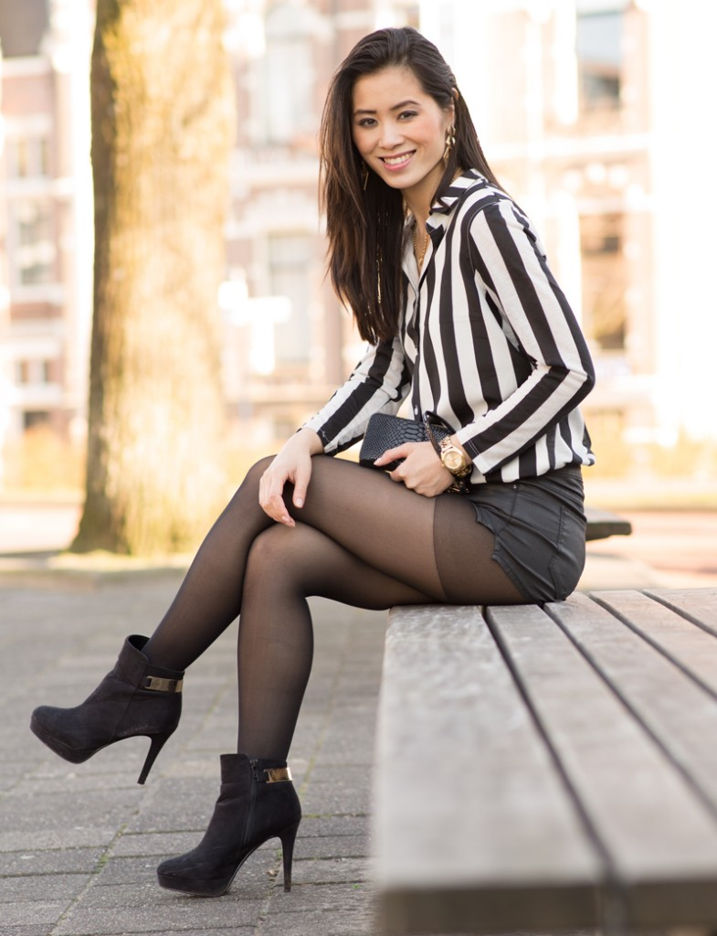 outfit-look-striped-hotpants | The Beauty Musthaves Dior