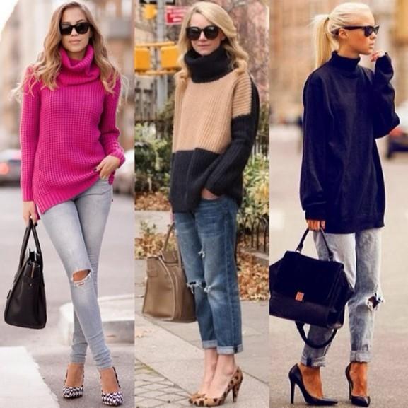 oversize trui dragen