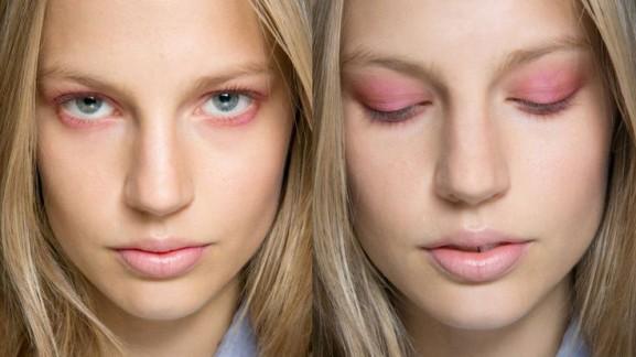 pastel-zalmroze-ogen-577x324 Make-up looks trend 2014 lente/zomer