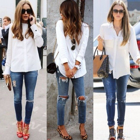 witte blouse dragen outfit fashionbloggers