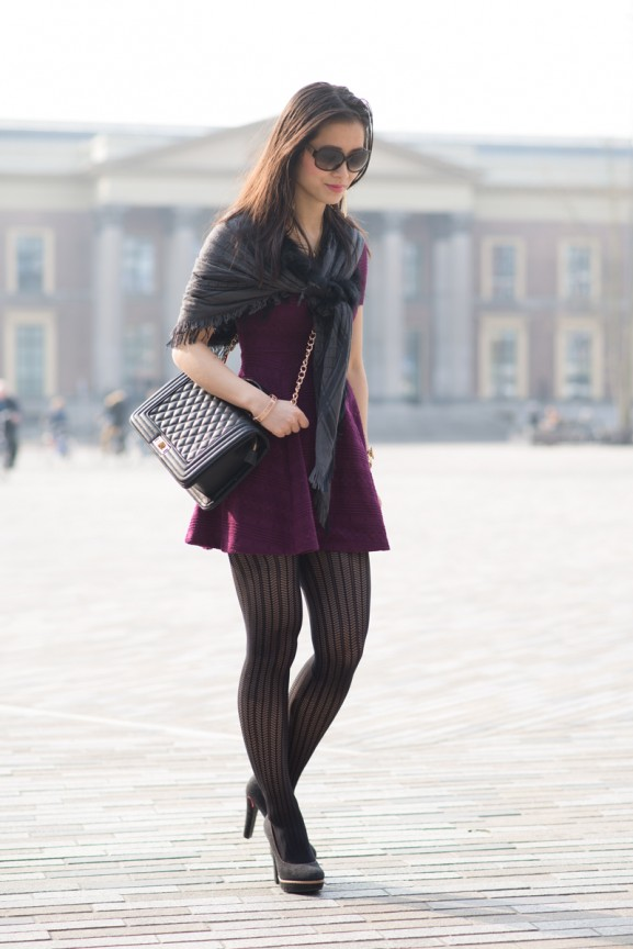 My-HUong-outfit-michael-kors-look-jewels-panty-577x864 Outfit: Bordeaux rode jurk