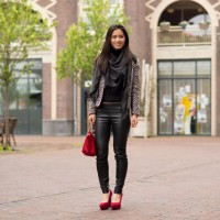My-Huong-outfit-look-pumps-red-Longchamp-200x200 Outfit: Black and white with a touch of red