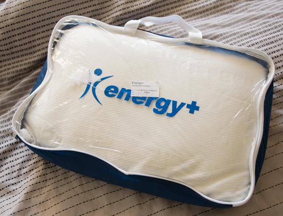 energy-ussen Energy+ NASA traagschuim kussen
