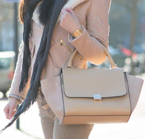 outfit-diesel-pants-celine-beige-bag-577x551 Outfit: Camel Coat with Hunters