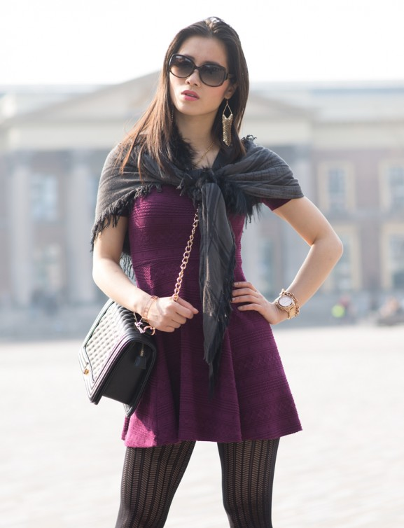 red-wine-dress-577x754 Outfit: Bordeaux rode jurk