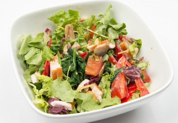 salade-kip-paprika-577x399 Diary pic's: nieuwe beauty producten, ijsjes en 30 Seconds