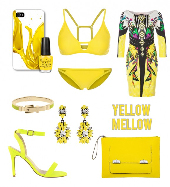 yellow-mellow.cavalli-dress-alexander-mc-queen-statement-oorbellen-opi-michael-kors-nelly-heels