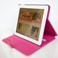 Fuchsia-glanzend-romantische-tablethoes-voor-de-iPad-2-roze