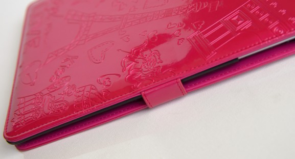 Fuchsia-glanzend-romantische-tablethoes-voor-de-iPad-2-sluiting
