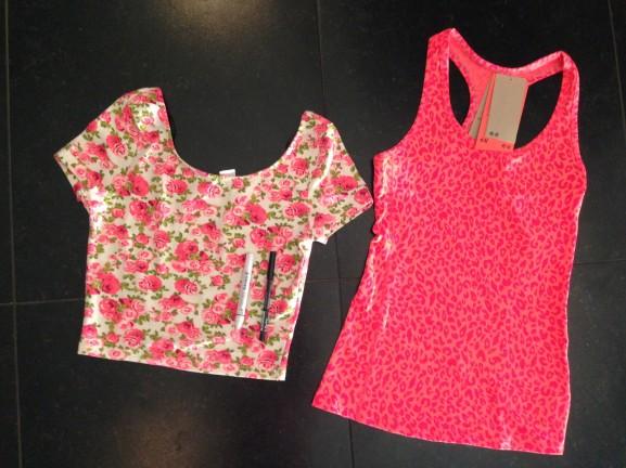 Krop-top-bloemen-en-panter-print-koraal-hempje-fitness-577x432 Diary: Fitness, shoppen, eten en WK