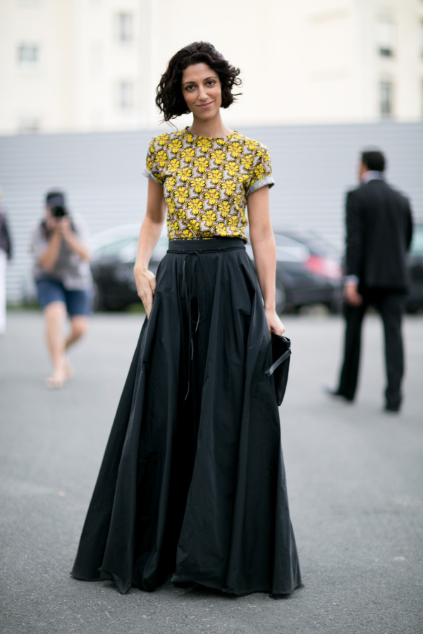 Maxi jurk zwart combineren