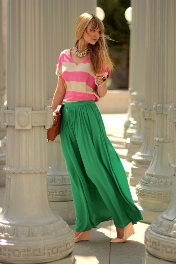 colorblocking-maxidress-577x865 10 x Howto Wear: Maxi skirt