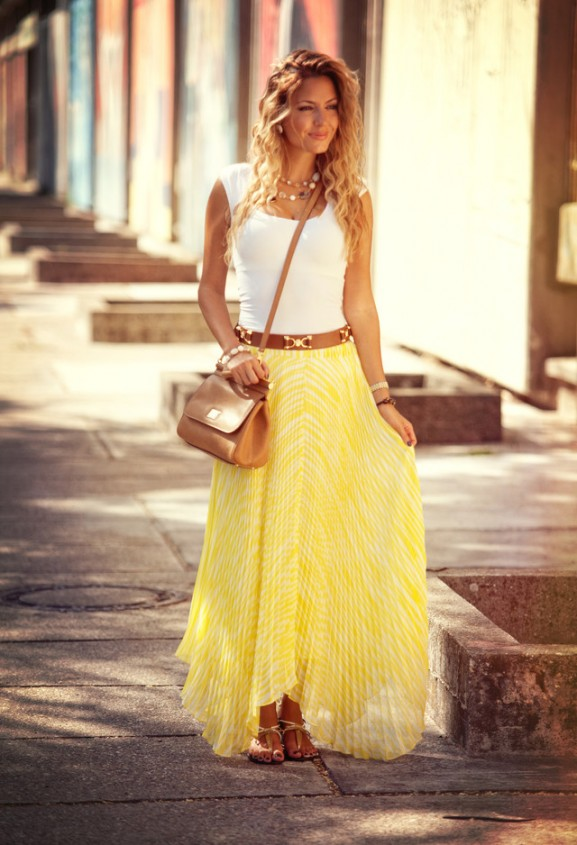 maxi dress yellow ibiza