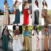 maxi skirt howto wear