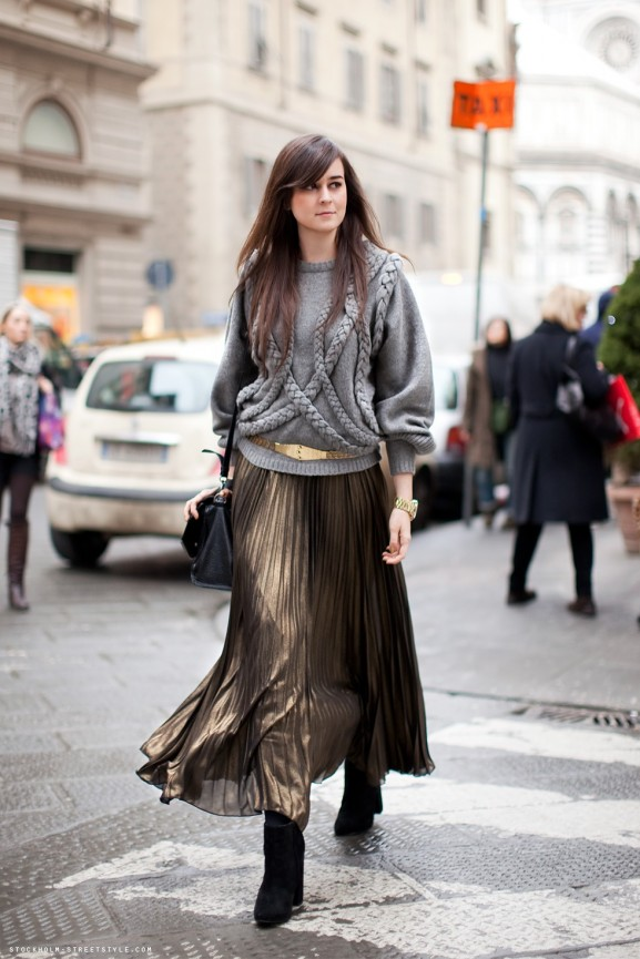 maxi skirt sweater