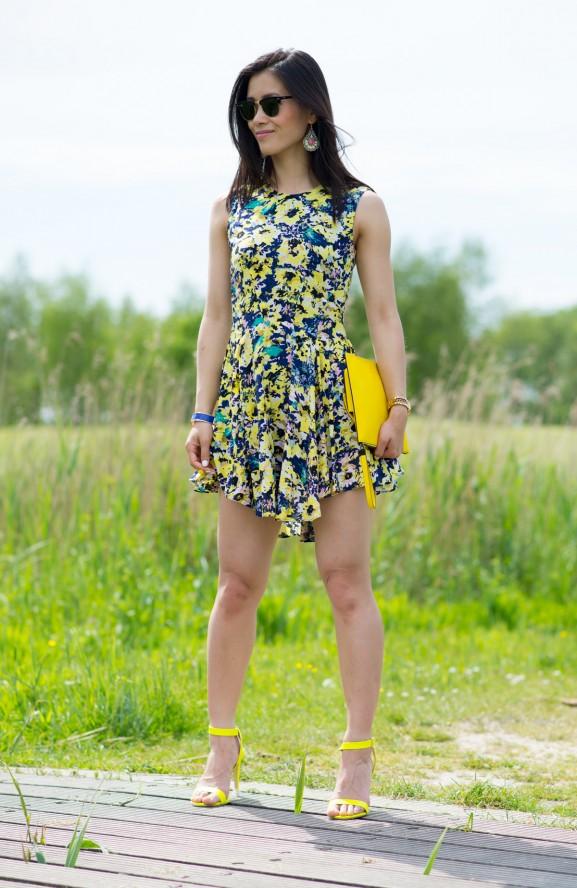 my-huong-yellow-ray-ban-clubmaster