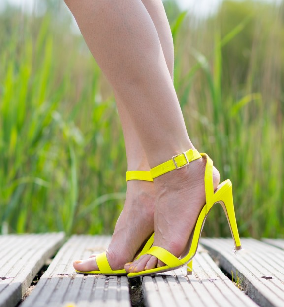 nelly-pumps-yellow-577x623 Outfit: Happy in Yellow