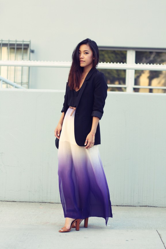 ombre-maxi-dress-577x865 10 x Howto Wear: Maxi skirt