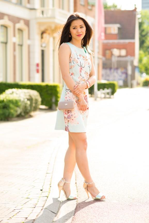 rebuscimento-jurk-moschino-jurk-nelly-shoes-577x864 Outfit: Rinascimento bloemen jurkje