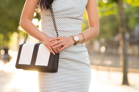 sieraden-outfit-renascimento-jurk-horloge-michael-kors-dji-dji-armband-577x385 Outfit: Rinascimento Dotted dress