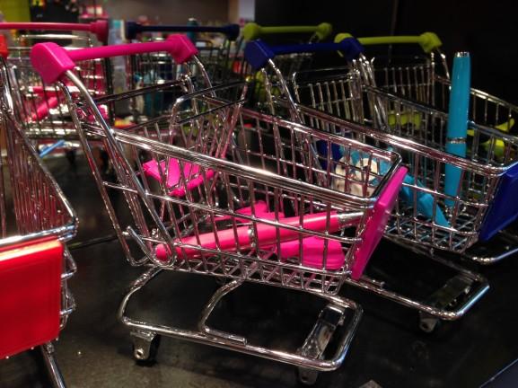 winkelwagen voor spulletjes schattig