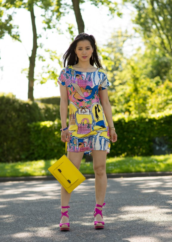 My-HUong-Designer-dress-Dior-dress-Alexander-wang-clutch-577x812 Outfit: Colourfull Dior Dress