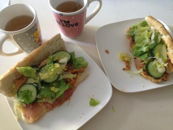 broodjes-kip-salade-577x432 Diary pic's: Casting's, fotoshoot's, lekker eten & de hitte dagen