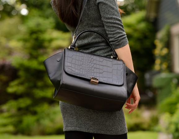 chicwish-look-a-like-celine-bag-577x448 Outfit: Black chique business casual