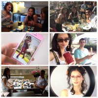 collage diary pics modelling iphone mosselen vakantie 2014