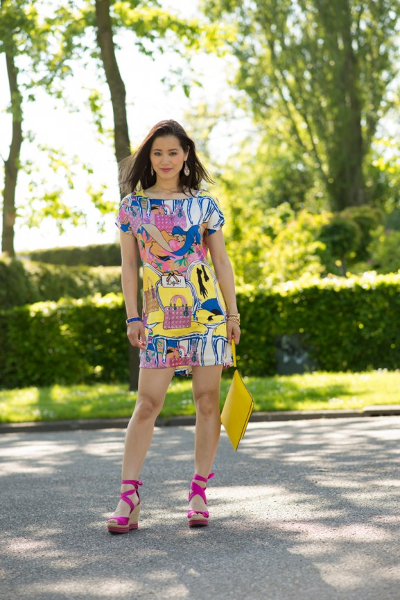 my-huong-dior-sheinside-dress-ugg-sleeehak-roze-pink-colourfull-577x864 Outfit: Colourfull Dior Dress