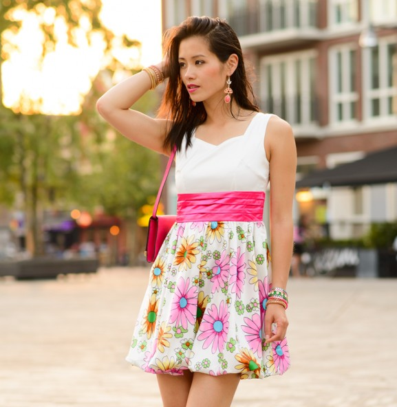 my-huong-flower-dress-house-lou-577x592 Outfit: Flower dress