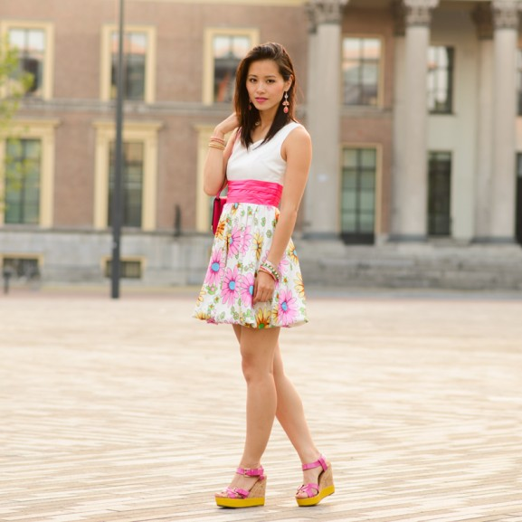 my-huong-outfit-flower-pink-dress-577x577 Outfit: Flower dress