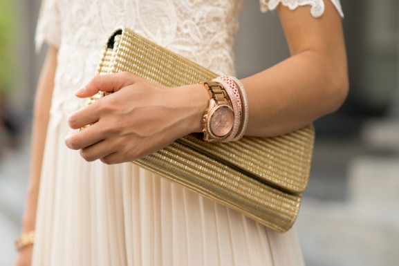Details-michaele-kors-rose-goud-577x385 Outfit: Vintage maxi-dress