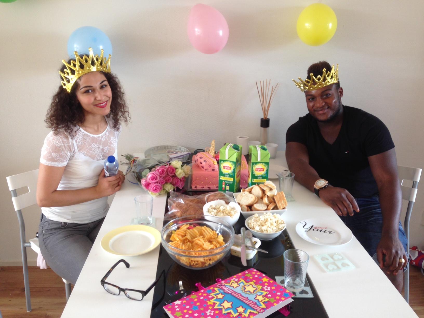 Met lara en loya op mijn suprise party