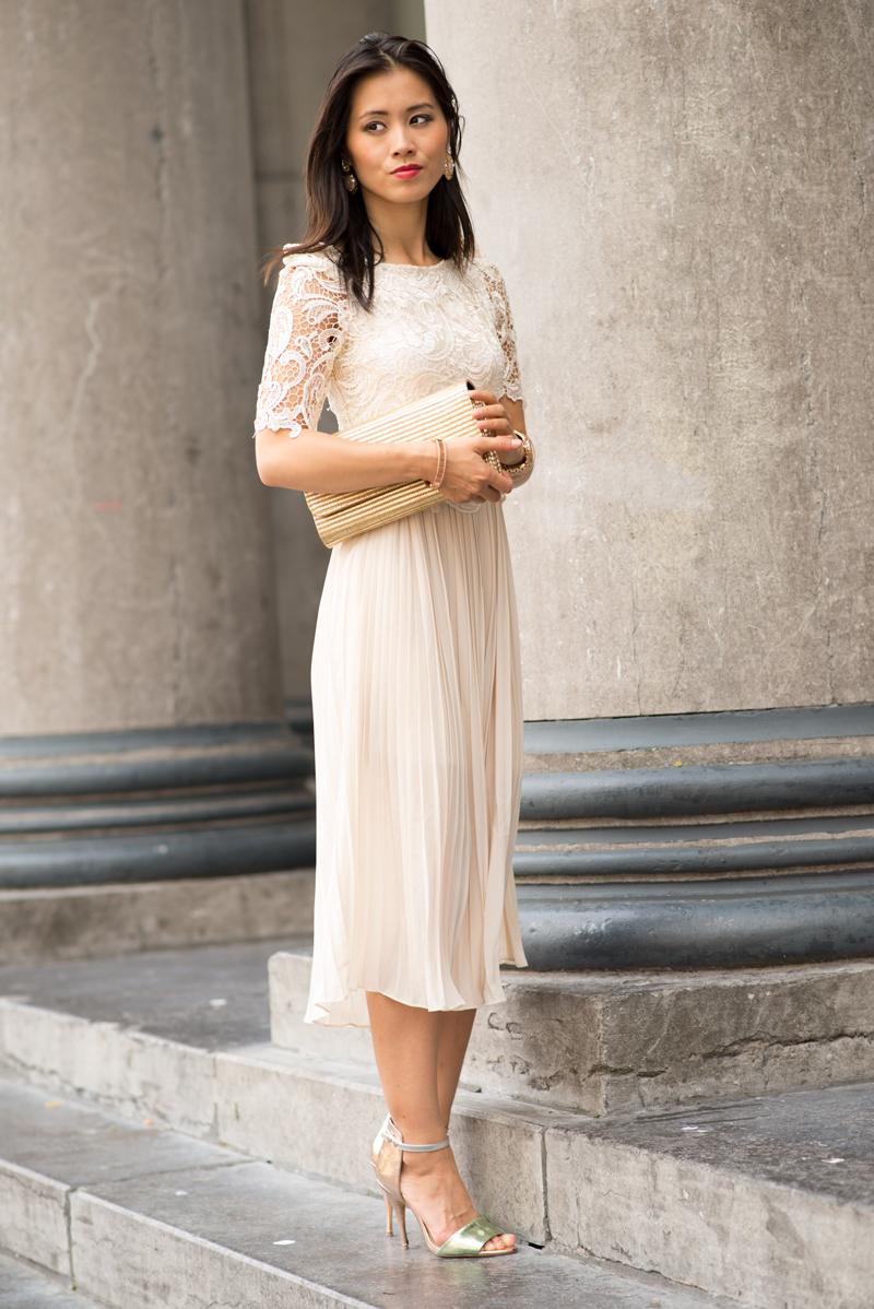 Witte maxi jurk met kant