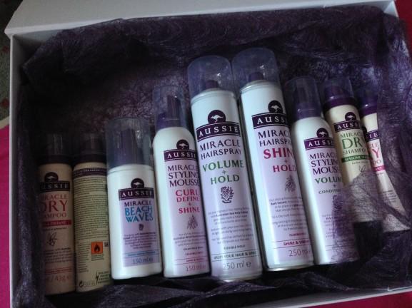 Aussie droogshampoo en hairspray