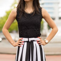 Black-white-striped-look-